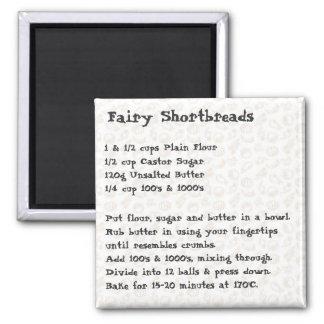 Fairy Shortbread Recipe Magnet pink