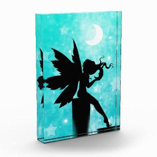 Fairy Silhouette against Teal Night Sky Award