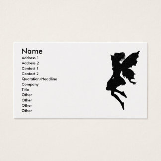 Fairy Silhouette Pose 23 Business Card
