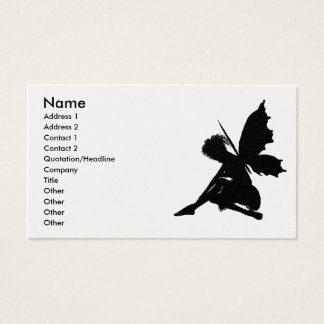 Fairy Silhouette Pose 30 Business Card
