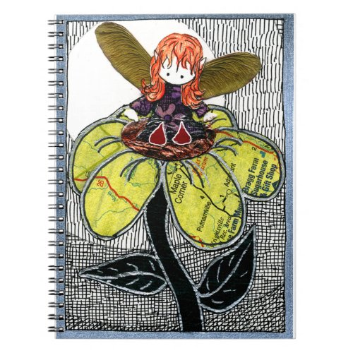 Fairy sitting on a Flower Notebook