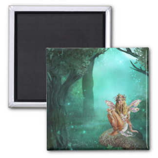 Fairy Sitting on a Mushroom Patch Magnet