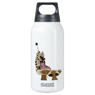 Fairy Sitting Upon A Mushroom Mythical Being Insulated Water Bottle