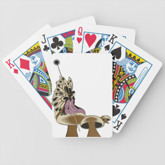 Fairy Sitting Upon A Mushroom Mythical Being Poker Cards