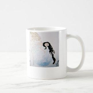 Fairy sleeping on the moon coffee mug