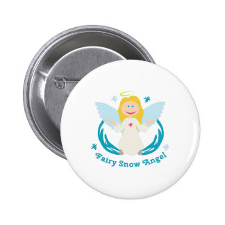 Fairy Snow Angel Pinback Buttons