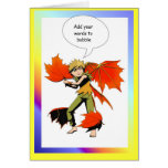Fairy speech bubble, Autumn fairy Card