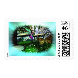 Fairy Springtime-Playing Stamp