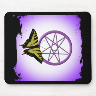 Fairy Star and Butterfly Mouse Pad
