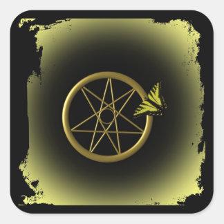 Fairy Star in Gold Square Sticker