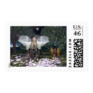 Fairy StarrGlitter Postage Stamps