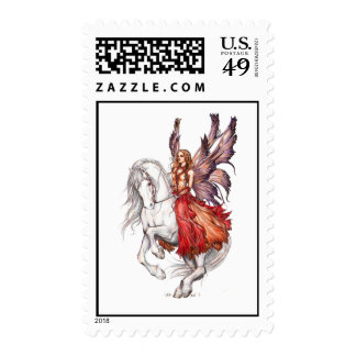 Fairy Steed Postage Stamps