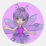 Fairy Sticker Round Sticker