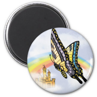 Fairy Swallow Tale M 2 Inch Round Magnet