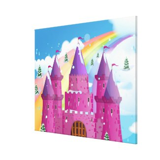 fairy-tail castle Rainbow wrappedcanvas