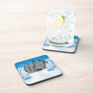 fairy-tail castle Winter Drink Coaster