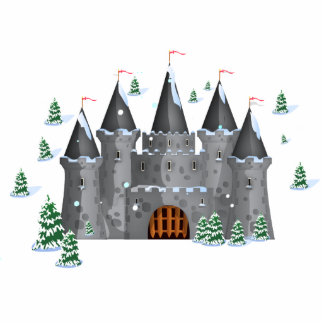 Fairy-tail castle Winter Statuette