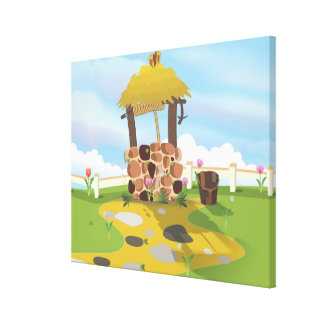Fairy Tail Well and Bucket Canvas Print