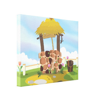Fairy Tail Well Wishing Well Canvas Print