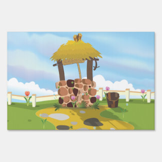 Fairy Tail Well Wishing Well Yard Signs