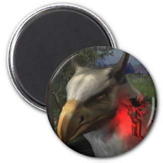 Fairy tale 2 inch round magnet
