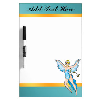 Fairy Tale Bird Woman Dry Erase Board