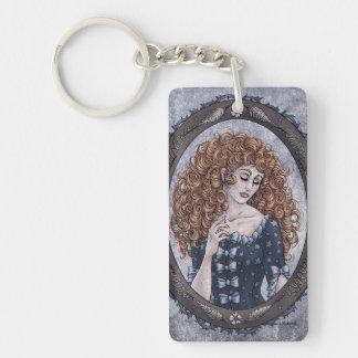 "Fairy Tale ""Briar Rose"" Fantasy Art Keychain #2"