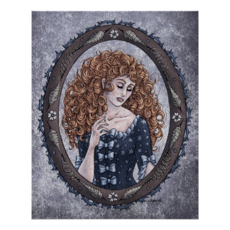 """Fairy Tale """"Briar Rose"""" Glossy Perfect Poster"""