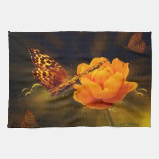 Fairy Tale Butterfly Hand Towels