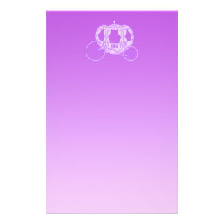 Fairy Tale Carriage in Purple. Stationery