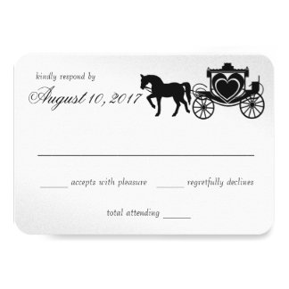 Fairy Tale Carriage Silver Response Card