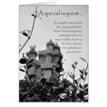 Fairy Tale Castle Bridesmaid Request Greeting Card