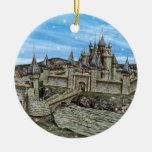 Fairy Tale Castle Christmas Tree Ornaments