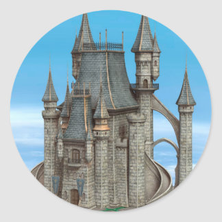 Fairy Tale Castle Classic Round Sticker