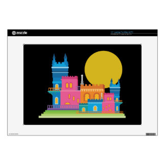 """Fairy Tale Castle Decals For 15"""" Laptops"""