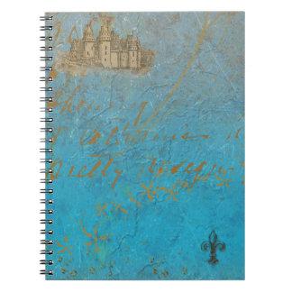 Fairy Tale Castle & Fleur de lis Note Books