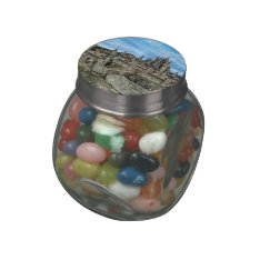 Fairy Tale Castle Glass Jar at Zazzle