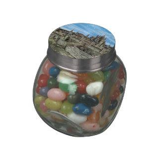 Fairy Tale Castle Glass Jar
