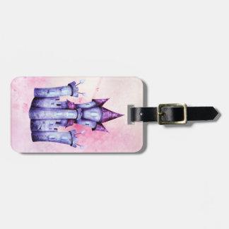 Fairy tale castle luggage tag
