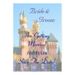 Fairy Tale Castle Save the Date Card Business Card Templates