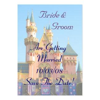 Fairy Tale Castle Save the Date Card Business Card Templates
