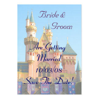 Fairy Tale Castle Save the Date Card Large Business Cards (Pack Of 100)