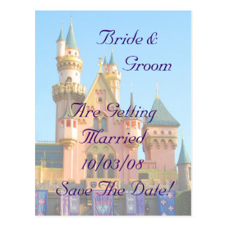 Fairy Tale Castle Save The Date Card Post Cards