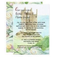Fairy tale Castle Wedding Invitation