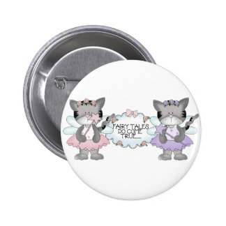Fairy Tale Cats Pinback Buttons
