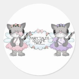 Fairy Tale Cats Classic Round Sticker