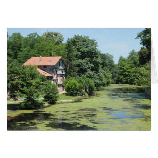 Fairy Tale Cottage on a Mossy River Notecard