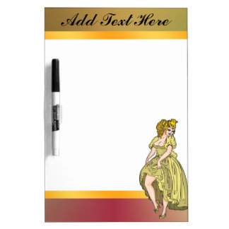 Fairy Tale Dancing Princess Dry Erase Board
