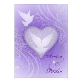 Fairy Tale Flourish Purple Princess Invitations