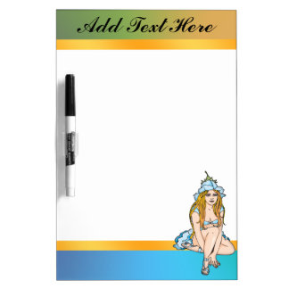 Fairy Tale Flower Fairie Dry Erase Board